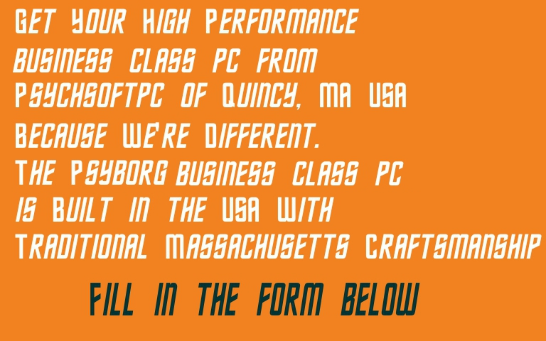 Buy Your Business Class PC, the Peformance Computer